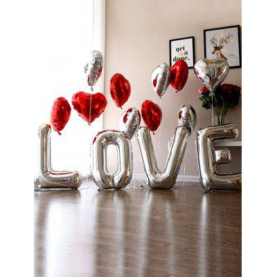 Love Heart Letters Shape Wedding Decoration Balloons