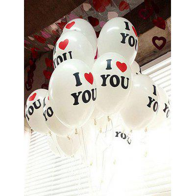 100PCS 12 pollici Ti amo palloncini in lattice di decorazione del partito