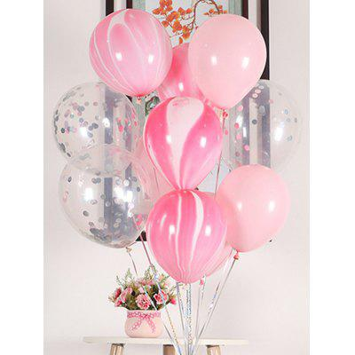 20PCS 12 pollici palloncini in lattice decorazione festa in paillettes