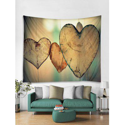 Heart Wood Print Decoration Wall Tapestry