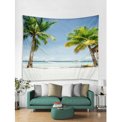 Beach Coconut Print Decoration Wall Tapestry