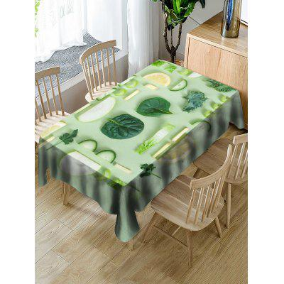 Fruits and Vegetables Print Fabric Waterproof Tablecloth