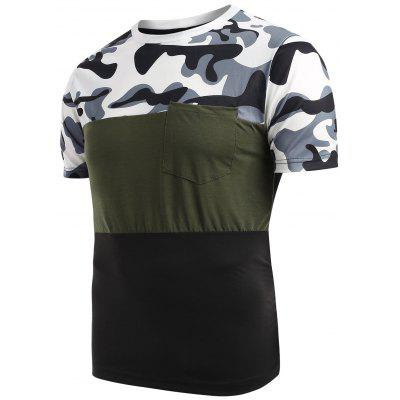 Camouflage Pattern Casual Short Sleeves T-shirt