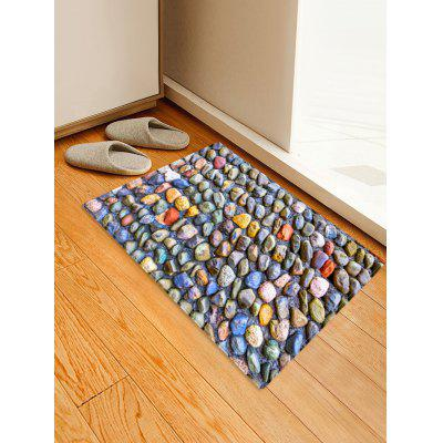 Unique Stone Pattern Print Floor Mat