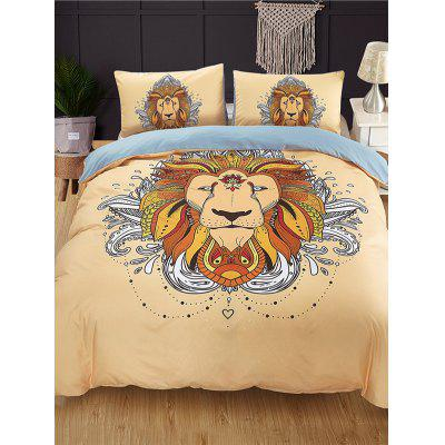 Lion Print 3PCS Bedding Set