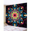 Colorful Flower Print Tapestry Wall Hanging Art Decor - MULTI