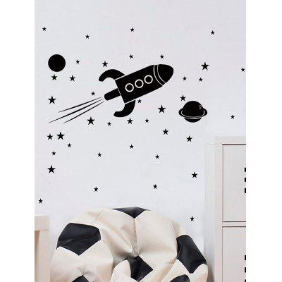 Outer Space Rocket Print Wall Art Sticker