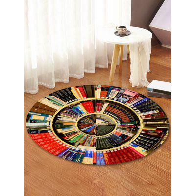 Bookshelf Pattern Round Floor Rug