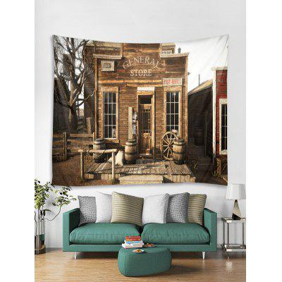 Retro Store Print Tapestry Wall Hanging Art Decoration