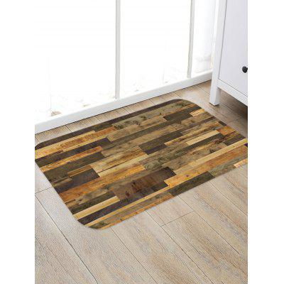 Wooden Flooring Pattern Water Absorption Area Rug
