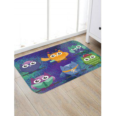Cartoon Owl Print Area Rug