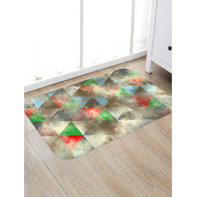 Colorful Geometric Pattern Water Absorption Area Rug