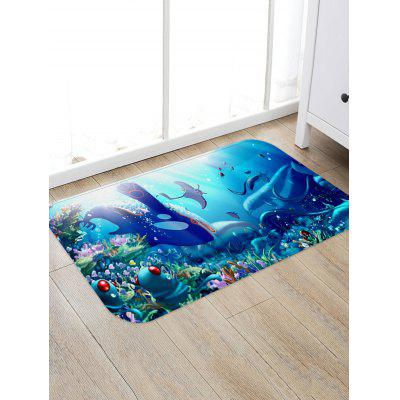 Underwater Animals Pattern Water Absorption Area Rug