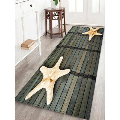3D Starfish Pattern Print Floor Mat