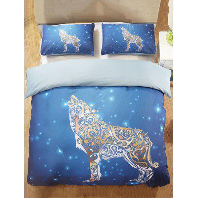 Sky Wolf Print 3PCS Bedding Set