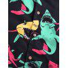Sharks Allover Print Casual Shirt - BLACK