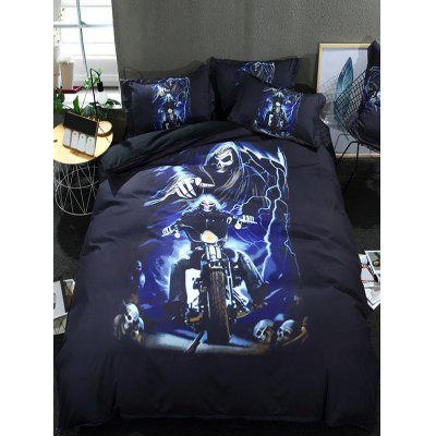 Devil Skull Print 3PCS Bedding Set