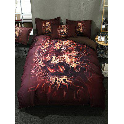Lion Printed 3PCS Bedding Set