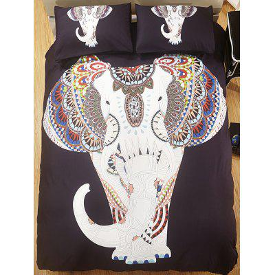 Elephant Printed 3PCS Bedding Set