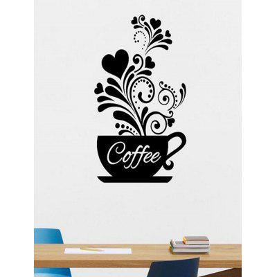 Coffee Cup Pattern Wall Sticker