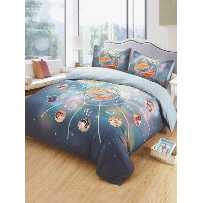 Pisces Print 3PCS Bedding Set