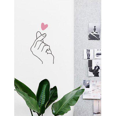Heart Gestures Design Wall Sticker