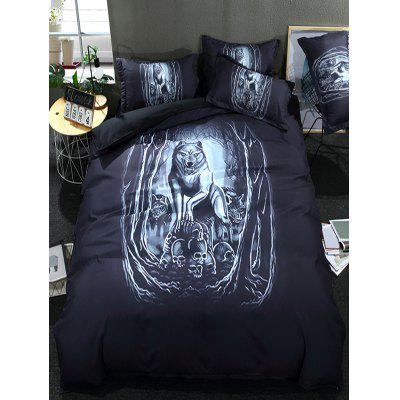 Wolf Pattern 3PCS Bedding Set