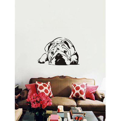 Cute British Bulldog Puppy Print Wall Stickers