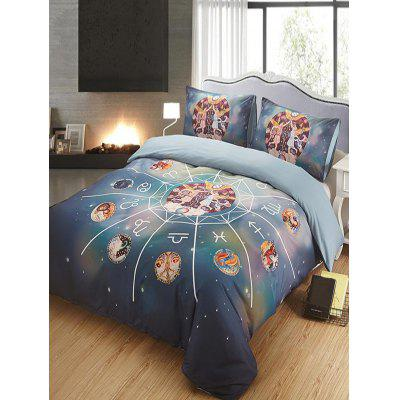 Gemini Print 3PCS Bedding Set