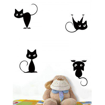 Cartoon Cat Print Wall Art Stickers