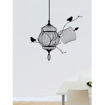 Cage Bird Pattern Wall Sticker