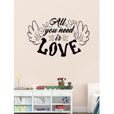 Love Wings Pattern Wall Stickers