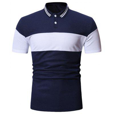 Color Spliced Decoration Casual T-shirt