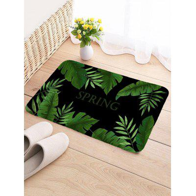 SPRING Palm Leaf Pattern Water Absorption Area Rug