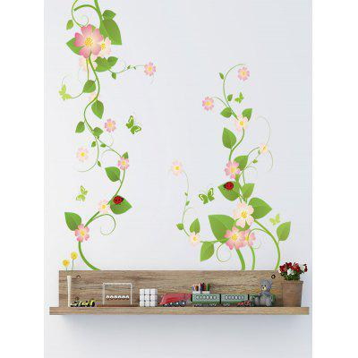 Flowers Vine Print Wall Art Stickers