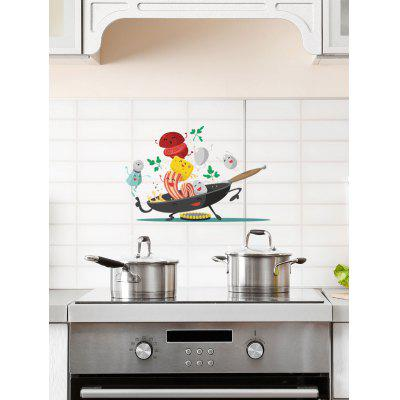 Cartoon Cook Print Wall Art Stickers