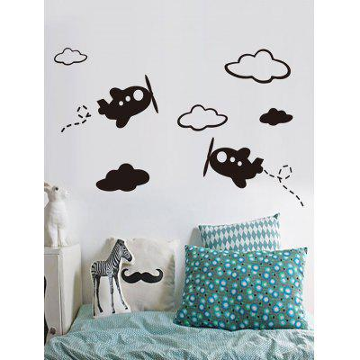 Airplane and Cloud Print Wall Art Stickers
