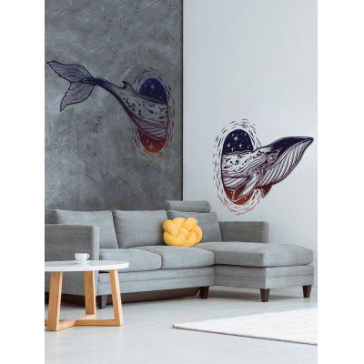 Whale Print Wall Art Stickers