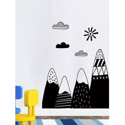 Cartoon Mountains Print Wall Art Stickers