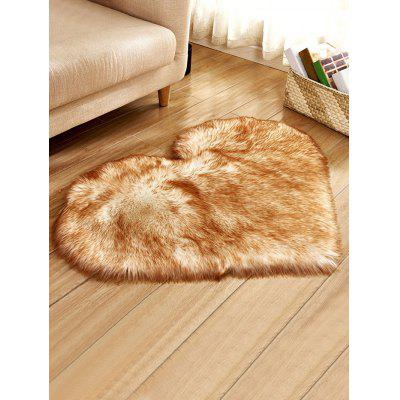 Heart Shape Faux Fur Soft Throw Rug