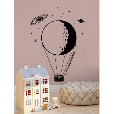Planet Balloon Print Wall Art Stickers