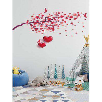 Heart Tree Birds Print Wall Art Stickers