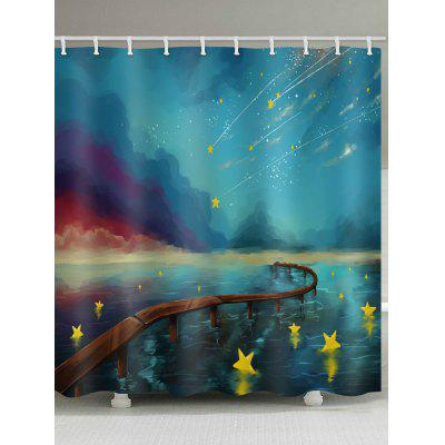 Comic Meteor Print Shower Curtain
