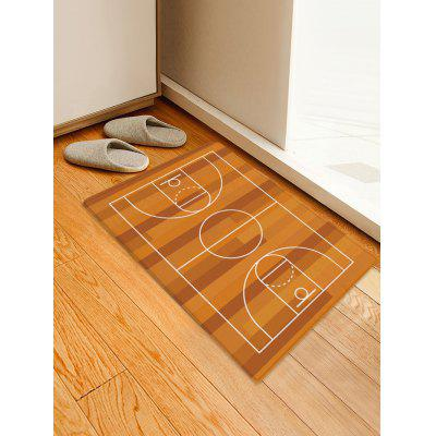 Basketball Court Print Water Absorption Area Rug