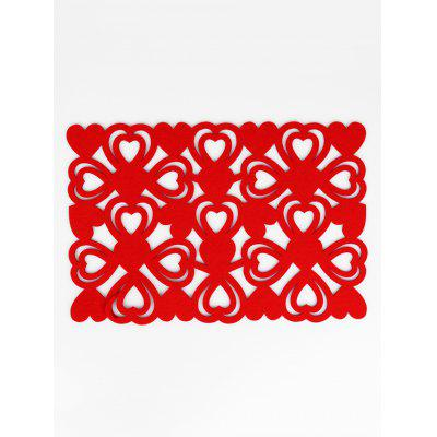 1PC Heart Hollow Out Pattern Placemat