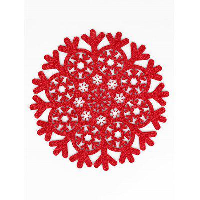 1PC Snowflake Pattern Round Placemat