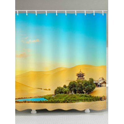 Desert Oasis Printed Waterproof Shower Curtain