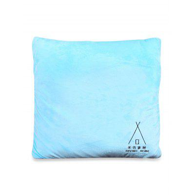 Solid Color Pillow Case with Blanket