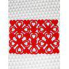 1PC Heart Hollow Out Pattern Placemat - RED