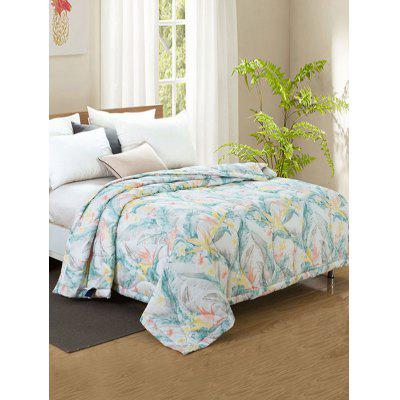 Flower Print Bed Quilt